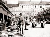Market Stalls  Antwerp  1898