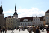 Town Hall Square and St Nicholas' Church  Tallinn  Estonia  2011
