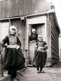 Girls in Traditional Dress  Marken Island  Netherlands  1898