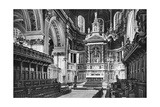 The Choir and Reredos  St Paul's Cathedral  1908-1909