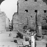 Avenue of Sacred Images after Excavation  Karnak  Thebes  Egypt  C1900
