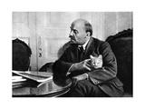 Russian Bolshevik Leader Vladimir Ilich Lenin in His Kremlin Appartment  Moscow  Russia  1920