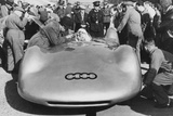 Bernd Rosemeyer and Ferdinand Porsche with Auto Union  C1937-C1938