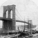 Brooklyn Bridge  New York  USA  Late 19th Century