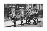 Pearly Family in their Donkey-Drawn Moke  London  1926-1927