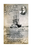 Postcard Commemorating Captain Scott's Ill-Fated Expedition to the South Pole  C1912