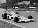 James Hunt in Mclaren-Ford M23  Brands Hatch  Kent  1977