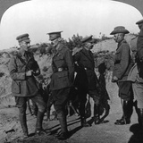 Lord Kichener Reviews the Situation at Gallipolli with Anzac Officers  World War I  1915-1916