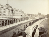 Victoria Embankment  Showing Somerset House  London  1887