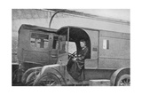Marie Curie  Polish-Born French Physicist  Driving a Car Converted into a Radiological Unit  1914
