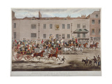 Mail Coaches in Front of the Peacock Inn on Islington High Street  London  1823