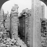 Middle Aisle of the Great Hall and Obelisk of Thutmosis I  Temple at Karnak  Thebes  Egypt  1905