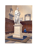 Statue of Sir Isaac Newton in the Chapel of Trinity College  Cambridge  C1850