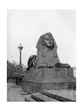 One of the Sphinxes  Victoria Embankment  London  1924-1926