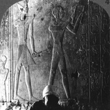 Sethos I and His Son Ramses II Worshiping their Ancestors  Abydos  Egypt  C1900
