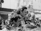 Graham Hill  Denny Hulme and Brian Redman  Spanish Grand Prix  1968