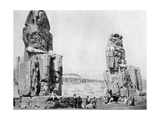 The Colossi of Memnon  Luxor (Thebe)  Egypt  C1922