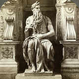 Michelangelo's Statue of Moses  Church of San Pietro in Vincoli  Rome  Italy