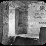 Sarcophagus and Burial Chamber of Rameses Vi  Valley of the Kings  Egypt  C1890