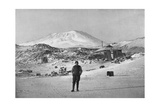 British Explorer Ernest Shackleton at the Cape Royds Base Camp  Antarctica  1908
