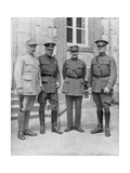 The Four Allied Commanders  Chateau Bombon  France  1918