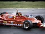 Gilles Villeneuve Racing a Ferrari 312T5  British Grand Prix  Brands Hatch  1980
