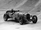 Henry Birkin in an Alfa Romeo at Brooklands  Surrey  1930S