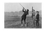 King Manuel II of Portugal Shooting at Windsor  Berkshire  1909
