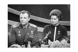 Yuri Gagarin and Valentina Tereshkova  Russian Cosmonauts  1963