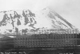 Umberto Nobile's Hangar  Base of the Airship 'Italia  Kongsfjorden  Spitzbergen  Norway  1929