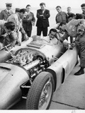 Alberto Ascari at the Wheel of the New Lancia Grand Prix Car  1955