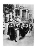King George V and Queen Mary in the Robes of the Knights of the Garter  Windsor  1937