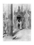 The Prince and Princess of Wales in King Theebaw's Palace  Mandalay  Burma  1906