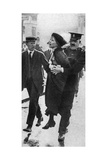 Mrs Pankhurst  Arrested Outside Buckingham Palace  London  1914
