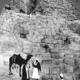 Entrance to the Great Pyramid of Giza  Egypt  1905