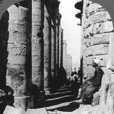 The Famous Colonnade in the Great Temple at Karnak  Thebes  Egypt  1905