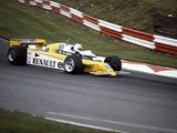 Rene Arnoux Racing a Renault Re20  British Grand Prix  Brands Hatch  1980