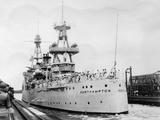 Us Navy Cruiser USS Northampton (Ca-2)  Panama Canal  Panama  1931