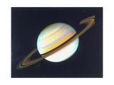 Colour-Enhanced View of Saturn  1980