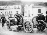 Vincenzo Lancia Taking Part in the Targa Florio Race  Sicily  April 1907