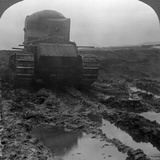 Whippet Tank on a Muddy Battlefield  Morcourt  France  World War I  1918