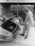 James Hunt with a Porsche  C1972-C1973