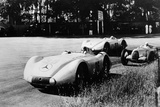 Mercedes Streamliner Cars Competing in the Avusrennen  Berlin  1937