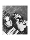 The Prince of Wales with Friends on a Raft  the Riviera  C1930S