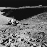 Astronaut David Scott (B193) on the Slope of Hadley Delta During Apollo 15  1971