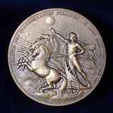 Medal Commemorating Pierre Janssen and Norman Lockyer  French and English Astronomers  1868