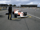 Andrea De Cesaris in a Mclaren-Cosworth MP4  British Grand Prix  Silverstone  1981