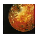 Nearly Full View of Io  One of the Moons of Jupiter  1979