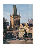 The Old Town End of the King Charles Bridge  Prague  Czech Republic  1943