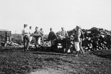Soldiers of the French Foreign Legion Stacking Logs  Syria  20th Century